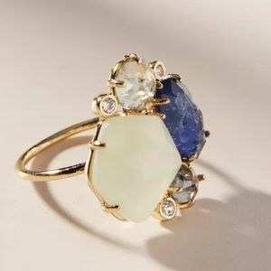 New Anthropologie River Rapids Cluster Ring Size 6